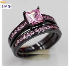 Pink Domonique Wedding Ring -  New Fashion Finds By Carole