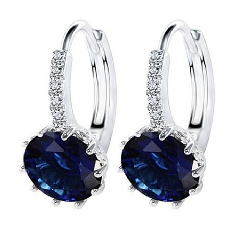 Gorgeous Luxury Deep Blue Crystal Earrings -  New Fashion Finds By Carole