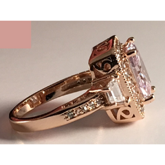4ct Cubic Zirconia Ring & Gold Plated. -  New Fashion Finds By Carole
