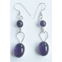 Beautiful Earrings with Genuine Amethyst -  New Fashion Finds By Carole