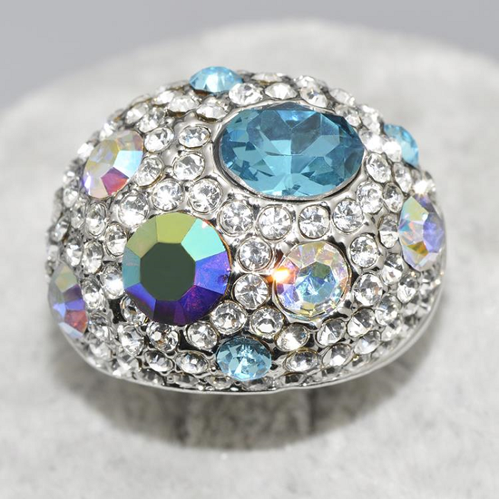 Bohemia Shining Rings White Gold Color Multicolor CZ Ring Crystal Austrian Party Jewelry -  New Fashion Finds By Carole