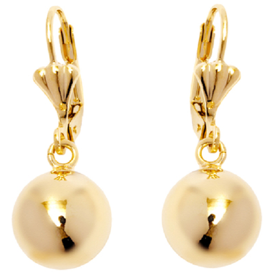 18K Gold Plated Ball Drop Earrings -  New Fashion Finds By Carole