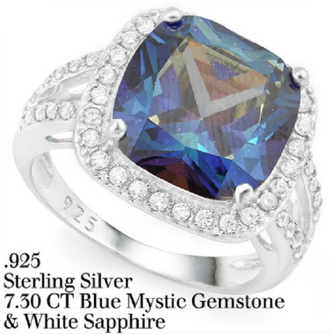 1.25ctw Genuine Blue & White Sapphire, Emerald, Ruby, Amethyst & Peridot