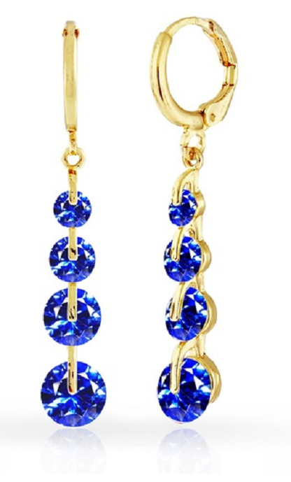 Graduated Drop Earrings with Swarovski Crystals -  New Fashion Finds By Carole