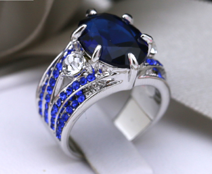 Stunning Blue CZ Ring -  New Fashion Finds By Carole