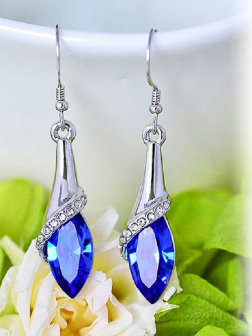 Crystal Titanic Blue Dangle Drop Earring -  New Fashion Finds By Carole