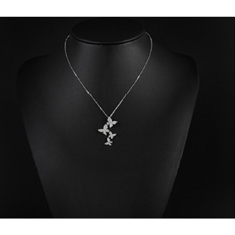 Beautiful Butterfly Necklace,  White gold Plated and covered with crystals. -  New Fashion Finds By Carole