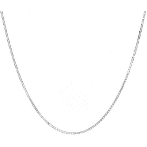 .925 italian Sterling Silver Box Chain -  New Fashion Finds By Carole