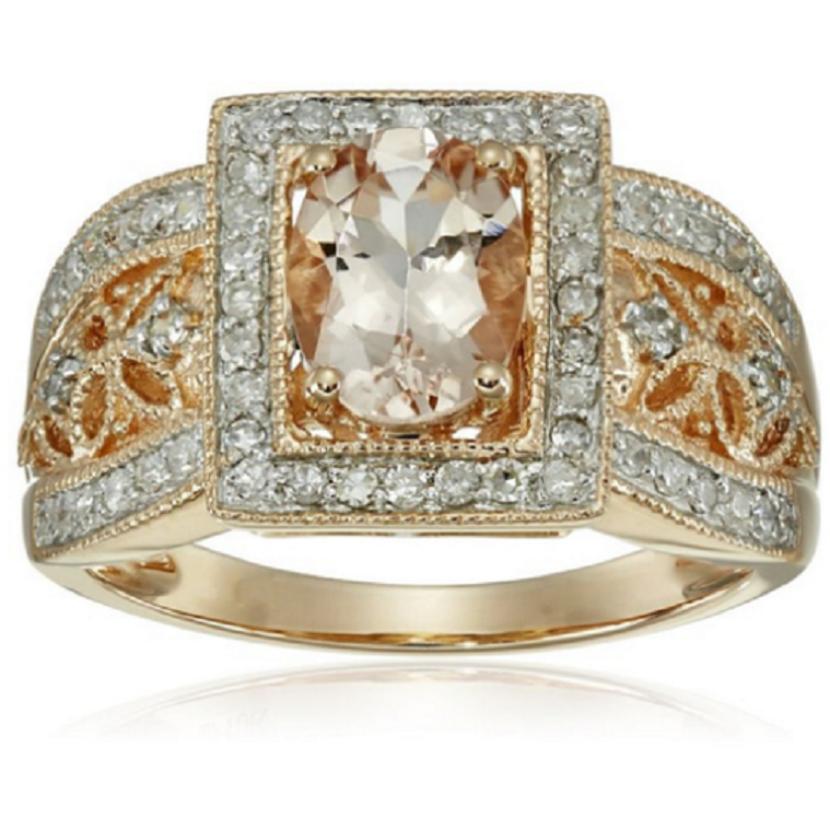 18K YGP Champagne CZ Ring -  New Fashion Finds By Carole