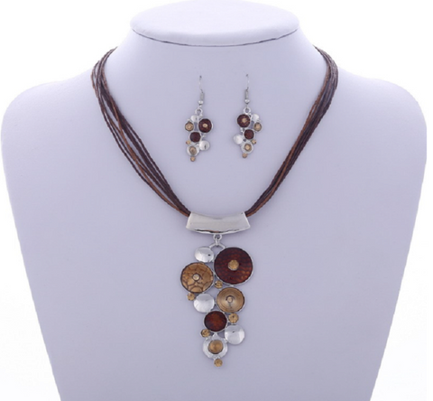 Gemstone Bridal and Party Jewelry Set.  Shooting Star and Tassels