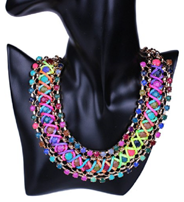 Funky Colorful Rainbow Colors Handmade Rope Woven Wide Chunky Necklace -  New Fashion Finds By Carole