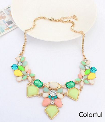Cute Flower Necklace for  spring and summer -  New Fashion Finds By Carole