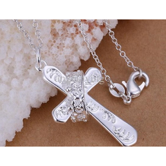 Beautiful Silver Cross with Crown -  New Fashion Finds By Carole
