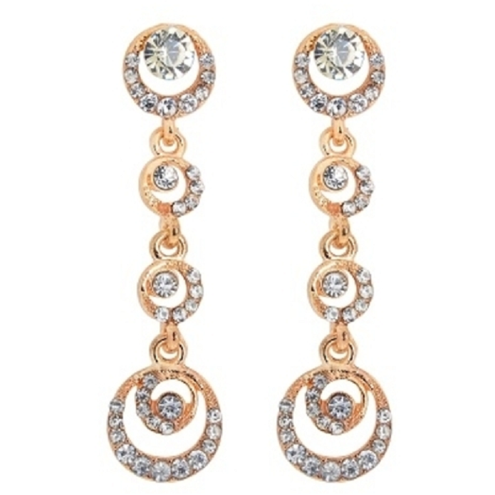 18kt Gold Plated Hanging Chandelier Earrings -  New Fashion Finds By Carole