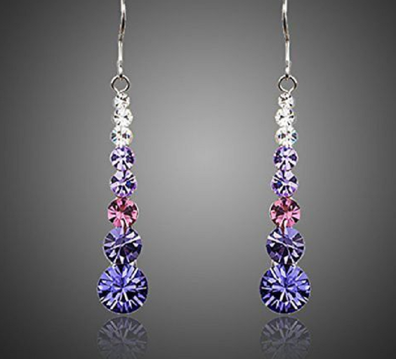 Sparkling Multicolor Round Swarovski Elements Crystal Women Drop Earrings -  New Fashion Finds By Carole