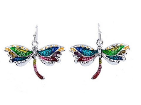Colorful & Unique Dragonfly Earrings -  New Fashion Finds By Carole