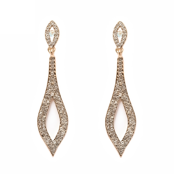 18K Gold Plated Gold and Marcasite Drop Earrings -  New Fashion Finds By Carole