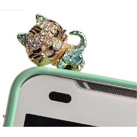 Adorable kitten to plug into top of your phone to keep the dust out -  New Fashion Finds By Carole