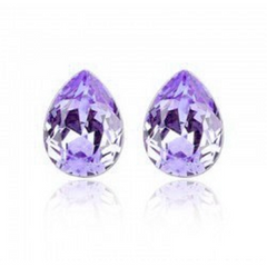 18kt White Gold Plated Water Tear Drop Crystal Earrings -  New Fashion Finds By Carole