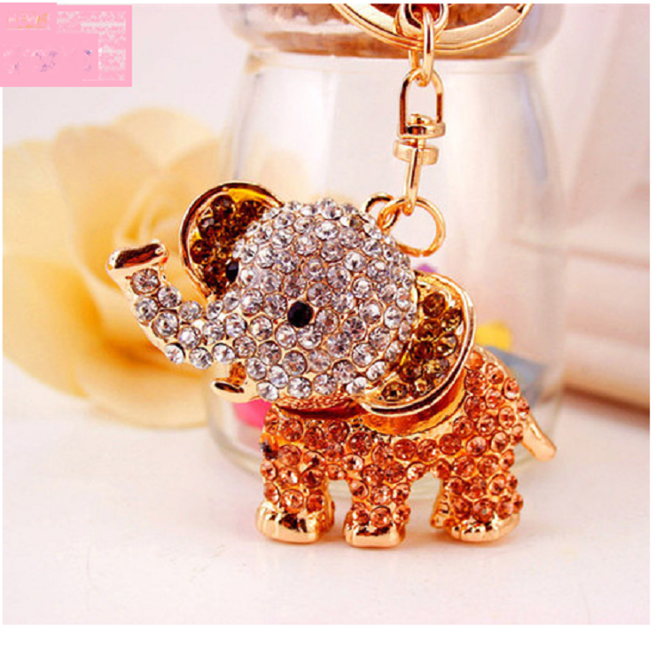 Elephant Pink Crystal Keychain and handbag decoration. -  New Fashion Finds By Carole