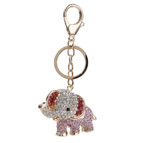 Cute Rhinestone Elephant Key Ring keychain Accessory Handbag -  New Fashion Finds By Carole