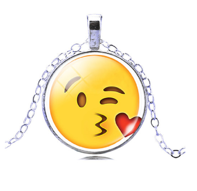 Kissing Emoji Necklace -  New Fashion Finds By Carole