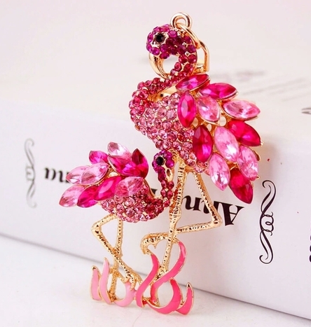 Pink Flamingo 3-D Keychain -  New Fashion Finds By Carole
