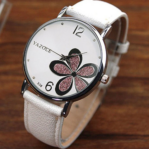 Women Fashion Exquisite Flower and Butterfly Quartz Watch