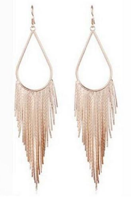 Fashion Retro Fringed Teardrop Earrings -  New Fashion Finds By Carole