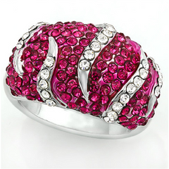 5.50ctw Genuine Garnet & White Sapphire, 14k White Gold Filled Ring -  New Fashion Finds By Carole