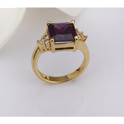 18K Rose Gold Plated inlaid gemstone rings -  New Fashion Finds By Carole