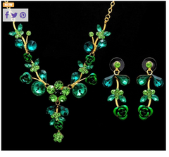 Sparkling Necklace and Earring set. -  New Fashion Finds By Carole