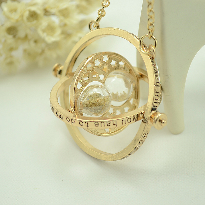 The New Harry Potter Time Converter Hourglass Necklace -  New Fashion Finds By Carole