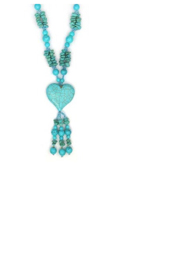 Turquoise Necklace Heart -  New Fashion Finds By Carole