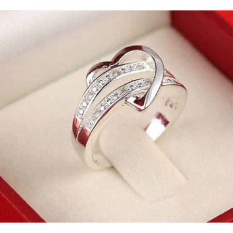"18K Rose Gold Plated ""Infinity love"" Ring"