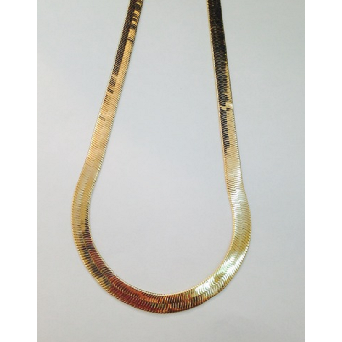 "18k Gold Filled Herringbone THICK Chain 20"". Absolutely stunning! -  New Fashion Finds By Carole"