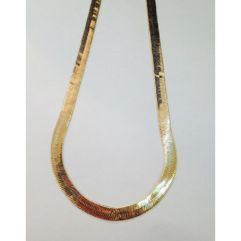 18k Gold Filled Herringbone THICK Chain 20