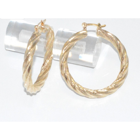 18kt Brazilian Gold Layered Twist Hoop Earrings. -  New Fashion Finds By Carole