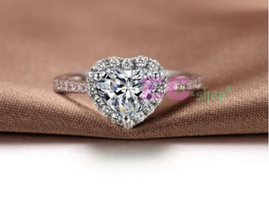 Lovely heart CZ wedding ring -  New Fashion Finds By Carole