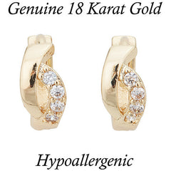 18K Gold Earrings complimented with AAA Cubic Zirconia -  New Fashion Finds By Carole
