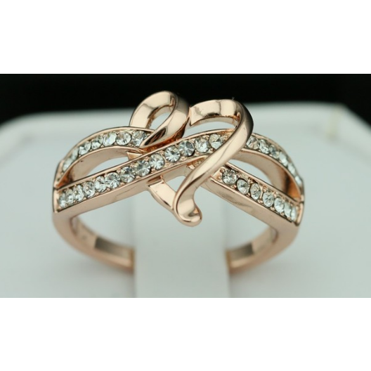 "18K Rose Gold Plated ""Infinity love"" Ring -  New Fashion Finds By Carole"