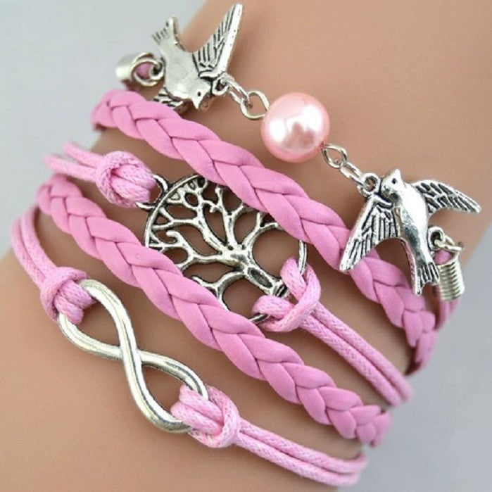 Multi strand bracelet with birds and the tree of life. -  New Fashion Finds By Carole