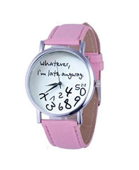 Hot Women Leather Watch Whatever I am Late Anyway Letter Watches Pink -  New Fashion Finds By Carole