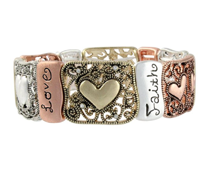 Hope, Love, Faith Stretch Bracelet -  New Fashion Finds By Carole