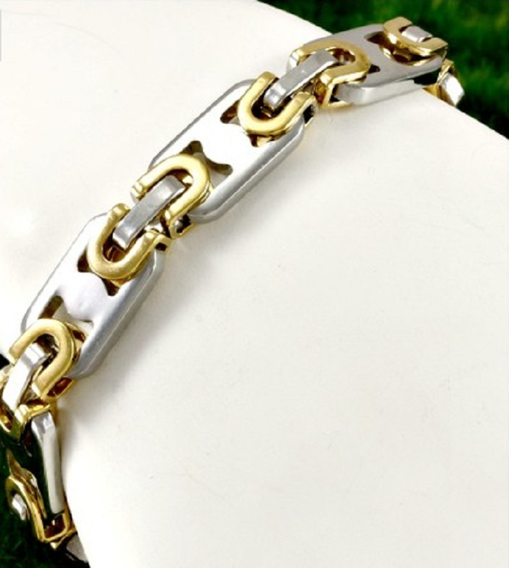 Multi-Tone Men's Bracelet -  New Fashion Finds By Carole