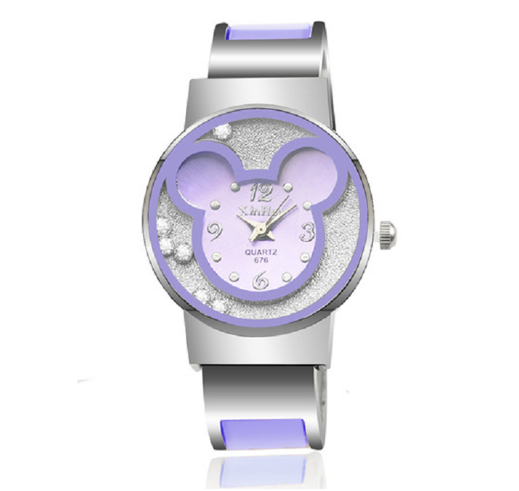 Luxury Silver Bracelet Wristwatch with Mouse -  New Fashion Finds By Carole