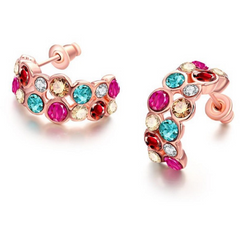 Beautiful Earrings with Zirconia elements -  New Fashion Finds By Carole