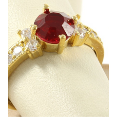 1.59ctw Red & White Italian CZ's (AAA Grade), 18k Gold -  New Fashion Finds By Carole