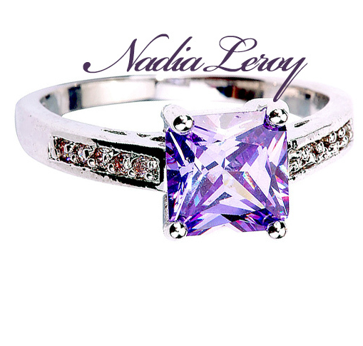 Gorgeous Genuine 1.8 ct Amethyst & White Topaz Sterling Silver Ring -  New Fashion Finds By Carole