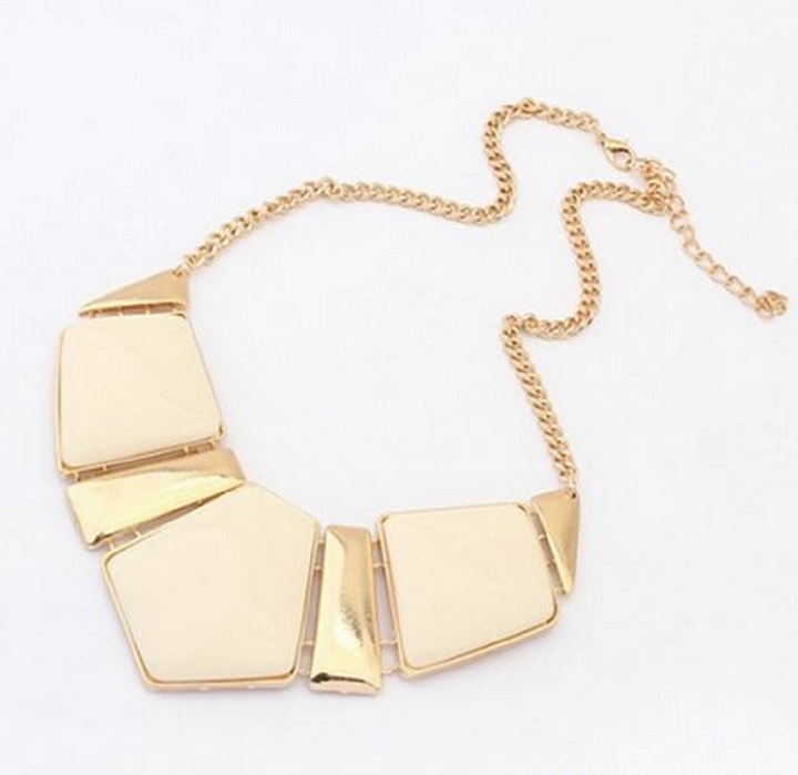 New Candy Color Collar Necklaces Pendants Fashion Statement Metal Choker Necklace For Women -  New Fashion Finds By Carole